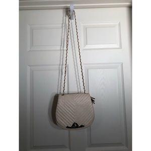 Handbags - Cream Faux Leather Purse